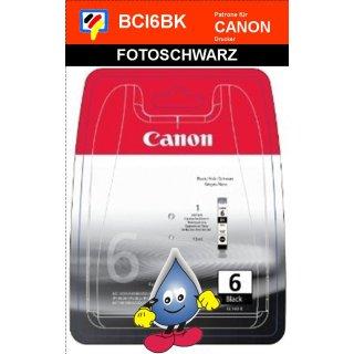 BCI6BK -Fotoschwarz- Canon Original Druckerpatrone mit 13ml Inhalt -4705A002-