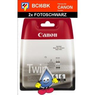 BCI6BKTwinPack -Fotoschwarz- 2x Canon Original Druckerpatrone mit je 13ml Inhalt -4705A046-