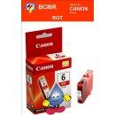 BCI6R-rot- Canon Original Druckerpatrone mit 13ml Inhalt...
