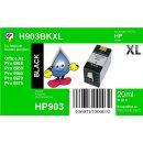 HP903BXL Schwarz TiDis Recyclingpatrone mit ca. 825...