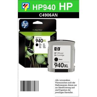 HP940BKXL - Original C4906AE - Black - mit 69ml Inhalt mit ca. 2.200 Seiten Druckleistung nach Iso