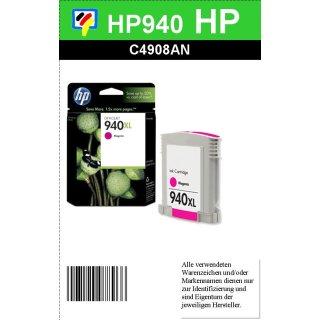 HP940M - Original C4908AE - magenta - XL Druckpatrone mit 16ml Inhalt für ca. 1.400 Seiten Druckleistung nach Iso