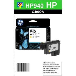 HP940 BK/YE - Original C4900AE - schwarz/gelb- Druckkopf zum Superangebot