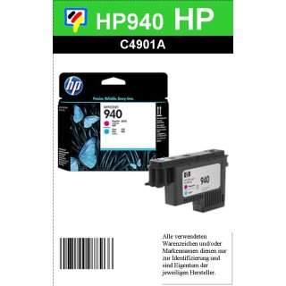 HP940CY/MA - Original C4901AE - cyan/magenta- Druckkopf zum Superangebot