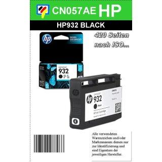 HP932BK - Original CN057AE - schwarz- Druckpatrone mit ca. 400 Seiten Druckleistung nach ISO