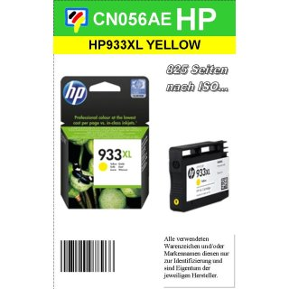 HP933Y - Original CN056AE - gelb- Druckpatrone mit ca. 825 Seiten Druckleistung nach ISO