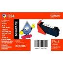 C24 - TiDis Ersatzdruckerpatrone mit 17ml Inhalt - BCI6BK...