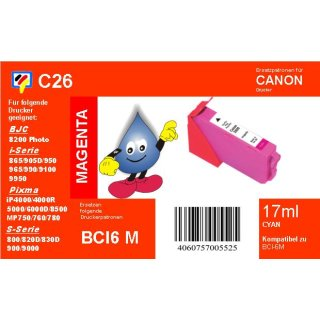 C26 - TiDis Ersatzkombipatrone mit 17ml Inhalt - BCI6M/BCI3M - magenta -