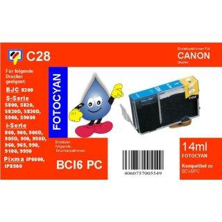 C28 - TiDis Ersatzkombipatrone mit 17ml Inhalt - BCI6ePC/BCI3ePC - Fotocyan -