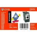 C115 - TiDis Ersatzdruckerpatrone mit 18ml Inhalt - PG540...