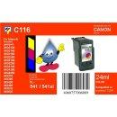C116 - TiDis Ersatzdruckerpatrone mit 24ml Inhalt - CL541...