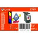 C116 - TiDis Ersatzdruckerpatrone mit 24ml Inhalt - CL541 XL - color -
