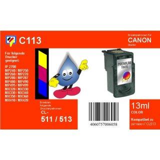 C113- TiDis Ersatzdruckerpatrone mit 13ml Inhalt - CL511 / CL513  - color -