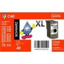 C40 - TiDis Ersatzdruckerpatrone mit 22ml Inhalt - PG40 /...