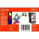 C41 - TiDis Ersatzdruckerpatrone mit 24ml Inhalt - CL41 /...