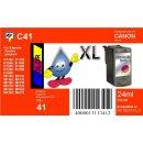 C41 - TiDis Ersatzdruckerpatrone mit 24ml Inhalt - CL41 / CL51  - color -