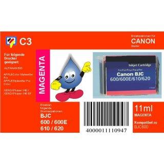 C3 - TiDis Ersatzpatrone mit 11ml Inhalt für BJI201M - magenta -