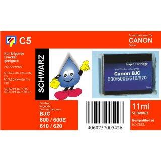 C5 - TiDis Ersatzpatrone mit 11ml Inhalt für BJI201BK - schwarz -