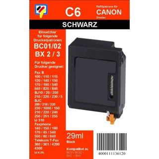 C6 TiDis Ersatzdruckerpatrone mit 29ml Inhalt für BC02 - schwarz -