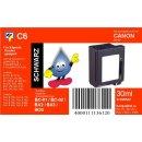 C6 TiDis Ersatzdruckerpatrone mit 29ml Inhalt für BX2 - schwarz -