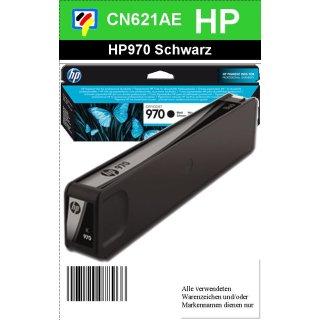 HP970BK - Original CN621AE - schwarz - Druckpatrone Nr. 970 mit ca.3 000 Seiten Druckleistung nach Iso
