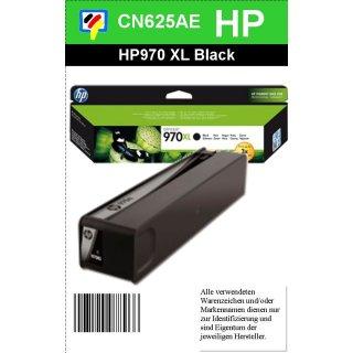 HP970BKXL - Original CN625AE - schwarz - Druckpatrone Nr. 970 XL mit 9200 Seiten Druckleistung nach Iso