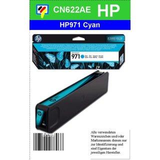 HP971C - Original CN622AE - cyan - Druckpatrone Nr. 971 mit ca. 2.500 Blatt Druckleistung nach Iso