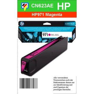 HP971M - Original CN623AE - magenta - Druckpatrone Nr. 971 mit ca. 2.500 Blatt Druckleistung nach Iso