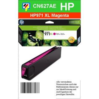 HP971MXL - Original CN627AE - magenta - Druckpatrone Nr. 971XL mit ca. 6600 Seiten Druckleistung nach Iso