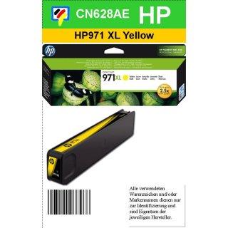 HP971Y XL- Original CN628AE - yellow - Druckpatrone Nr. 971 XL mit ca. 6.600 Seiten Druckleistung nach Iso