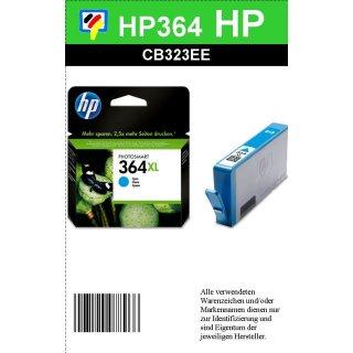 HP364CXL - Original CB323EE - cyan - Druckpatrone mit 6ml Inhalt zum Superangebot