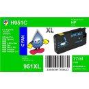 HP951C - TiDis Ersatzpatrone - cyan - mit 17ml Inhalt...
