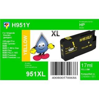 HP951Y- TiDis Ersatzpatrone - yellow - mit 17ml Inhalt ersetzt CN048A HP951YXL