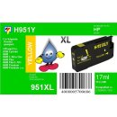 HP951Y- TiDis Ersatzpatrone - yellow - mit 17ml Inhalt...