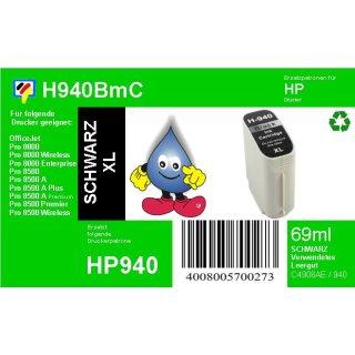 HP940BXL - TiDis Ersatzpatrone - schwarz - mit 69ml Inhalt ersetzt C4906A