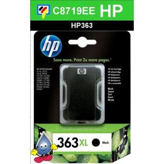 HP363BK - Original C8719EE - schwarz - Druckpatrone mit 17ml Inhalt zum Superangebot