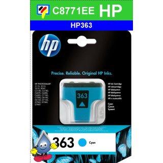 HP363C - Original C8771EE - cyan -Druckpatrone mit 4ml Inhalt zum Superangebot