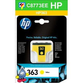 HP363Y - Original C8773EE - gelb -Druckpatrone mit 6ml Inhalt zum Superangebot
