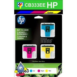 HP363MP - Original CB333EE - Multipack mit je 1x cyan, magenta, gelb zum Superangebot