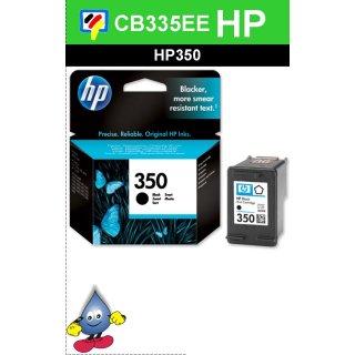 HP350BK - Original CB335EE - schwarz -Druckpatrone mit 4,5ml Inhalt mit ca. 200 Seiten Druckleistung nach Iso