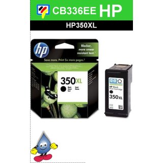 HP350BKXL - Original CB336EE - schwarz -Druckpatrone mit 25ml Inhalt und ca. 1000 Seiten Druckleistung nach Iso
