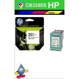 HP351CXL - Original CB338EE - color-Druckpatrone mit 14ml Inhalt und mit ca. 580 Seiten Druckleistung nach Iso