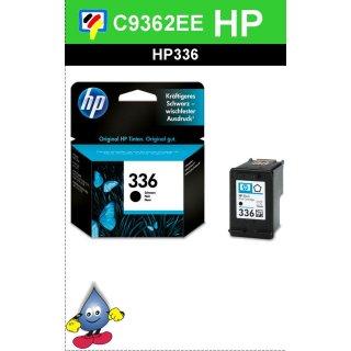 HP336BK - Original C9362EE- schwarz-Druckpatrone mit 5ml Inhalt und ca. 250 Seiten Druckleistung nach Iso