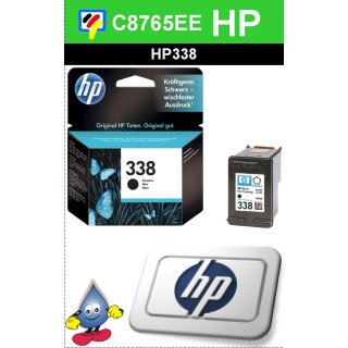 HP338BK - Original C8765EE - schwarz-Druckpatrone mit 11ml Inhalt und ca. 450 Seiten Druckleistung nach Iso
