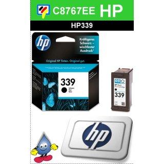 HP339BK - Original C8767EE - schwarz-Druckpatrone mit 21ml Inhalt und ca. 800 Seiten Druckleistung nach Iso