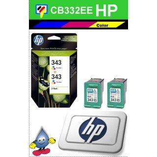 HP343C - Original CB332EE - color -Druckpatronen mit je 2x 7ml Inhalt und ca.660 Seiten Druckleistung nach Iso