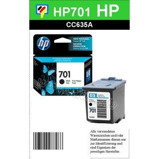 HP701BK - Original CC635AE - schwarz- Tintenpatrone mit 6ml Inhalt zum Superangebot