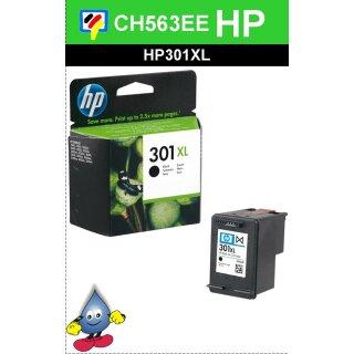HP301BXL - Original CH563EE- schwarz-Druckpatrone mit 8ml Inhalt und ca. 480 Seiten Druckleistung nach Iso