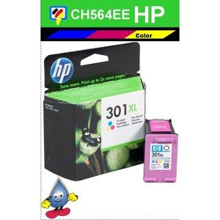 HP301CXL - Original CH564EE- color-Druckpatrone mit 6ml Inhalt und ca. 330 Seiten Druckleistung nach Iso