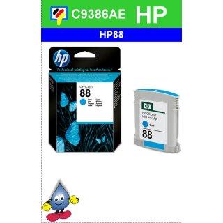 HP88CY - Original C9386AE-cyan-Druckpatrone mit 10ml Inhalt zum Superangebot